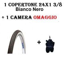 2 COPERTONI BIANCO-NERO PER BICI BICICLETTA PNEUMATICO 24 X 1 3//8 37-540