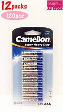 12x Pack of 10pcs Camelion AAA Batteries Super Heavy Duty 1.5V Long Life Bulk