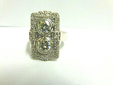 moissanite ring sterling silver sz 13 wgt 10.4 grams tcw 4