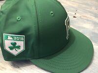 Rare! pittsburgh pirates Green Irish Clover MLB '18 Baseball Hat 7 3/8 New Era