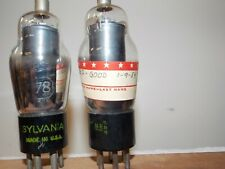 Sylvania Type 78 vacuum tubes tested and guaranteed