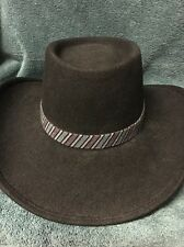 Black Sheplers Large Women's Western Hat New