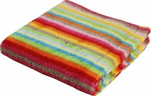 Cawö Handtuch Duschtuch Strandtuch Saunatuch Waschhandschuh Streifen orange rot