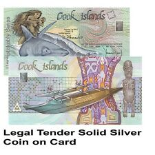 Cook Islands GENUINE Coin on Card 999.9 Pure Solid Silver Valcambi Suisse 1 Gram