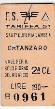 EDMONSON - Sant'Eufemia Lamezia - Catanzaro - Lire 190 - 1963 -