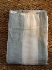 POTTERY BARN AWNING STRIPE SHEER DRAPE BLUE 50 X 96 floor model blue