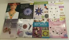 Lot 8 Jewelry & Beadwork Craft Books By Lark - Polymer, Wire, Bead, Crystals