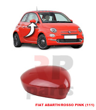 FOR FIAT 500 (312) 07-18 NEW WING MIRROR COVER PAINTED RED (111) COLOR RIGHT