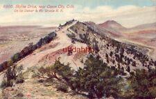 SKYLINE DRIVE, NEAR CANON CITY, CO On the Denver & Rio R. R. 1914 convict labor