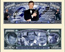 Roger Moore 007 Novelty Dollar plus Semi Rigid protector & free shipping New