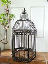 Iron Handmade Ornamental Bird Cage Wedding Wishing Well Large size BRASS HYL016L