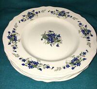 Midland Enterprises Ironstone Violette Dinner Plates Set Of 7