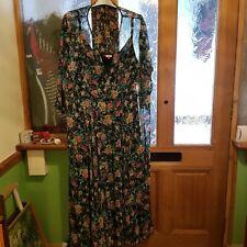 Joe Browns navy floral print chiffon dress size 28