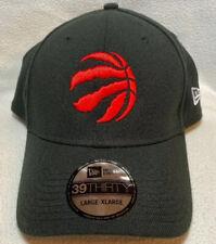 NEW ERA Toronto Raptors Adult Black Hat Cap 39Thirty NBA Champions Size L/XL