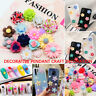 50Pcs Mixed Resin Cute Flowers Flat Back Embellishment Cabochons DIY Craft Decor