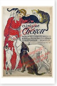 French Clinique Cheron Cats And Dogs Theophile Steinlen Veterinarian Poster