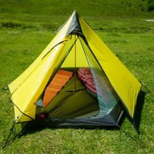 Ultralight Outdoor Camping Teepee 15D Silnylon Pyramid Tent 2-3 Person Large UL