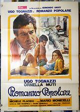 manifesto 2F film ROMANZO POPOLARE Ugo Tognazzi Ornella Muti M.Monicelli 1974