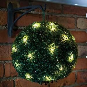 1 Solar Powered Topiary Garden Ball Lights 28cm - 20 Fitted Led Lights