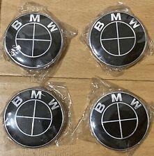 4 Pcs Bmw (Oem) Wheel Center Hub Caps 68mm High Quality Logo Black/Black