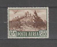 s36423 SAN MARINO 1951 MNH L.500 Bruno Posta Aerea  1v #97