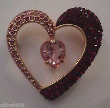 Signed Swan Swarovski 2006 Annual Heart Brooch Pin