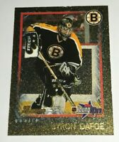 Byron Dafoe /250 made Youngstars Gold Insert Parallel Hockey Card 63 Bruins 2002