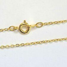 """Collar chapado en oro de 12 cadenas de seguimiento 16"""" hallazgos vendedor del Reino Unido"""