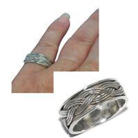 Bague en argent massif anneau tresse T 50 bijou