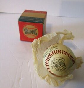 1950's Phillies Team Signed Official National League Ball w/ Box