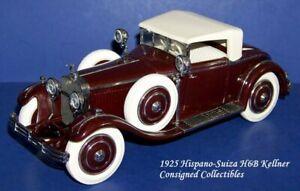 Franklin Mint 1925 HISPANO-SUIZA H6B KELLNER 1/24 NEW!