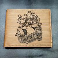 Homer Simpson Duff Beer Men's Wallet Laser Engraved Gift Simpsons