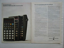 9/1975 PUB HP HEWLETT PACKARD HP-25 SCIENTIFIC CALCULATOR CALCULATRICE AD