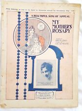 My Mother's Rosary,Margaret Jewell,Fuller Circuit,Oz Sheet Music,c.1910