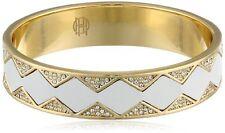 HOUSE OF HARLOW 1960 Leather Pave Star Sunburst Gold-Tone Bangle Bracelet $68