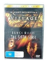 The Sixth Sense.The Village. Horror. Dvd.Bruce Willis 2 Movies. 2 Discs