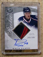 08-09 UD The Cup Autographed Rookie Patch NIKITA FILATOV /249