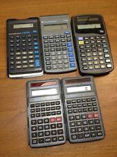Lot of 5 Texas Instrument Ti-30X Ti-30 Stat, Casio Fx-260Solar Working