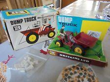 BRITAINS farm vintage   red ,dumper truck,c/w rubble old box