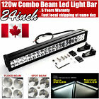 24inch 120w LED Light Bar Work Flood Spot Offroad Truck Jeep Driving SUV 20/22