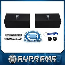 "99-18 Chevy GMC Silverado Sierra 1500 1"" Rear Leveling Lift Blocks Kit Blk Pro"
