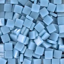 12mm Mosaic Glass Tiles - 4 Ounces About 90 Tiles - Phthalo Blue #4 Color