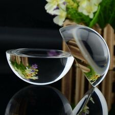 50mm Glass Crystal Paper Weight Clear Half Sphere Ball Magnifying Glass Lens