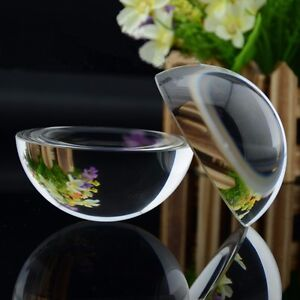 40mm Glass Crystal Paper Weight Clear Half Sphere Ball Magnifying Glass Lens