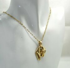 Vintage Lovely 14 carat Gold Cat Pendant And Chain