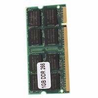 1GB Memory RAM Memory PC2100 DDR CL2.5 DIMM 266MHz 200-pin Notebook Laptop W5B1