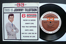 EP Johnny Tillotson - This Is - 6 Songs (33rpm) US Cadence