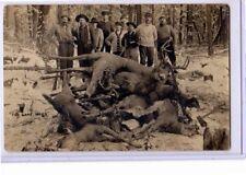 Real Photo Postcard RPPC - Hunting Deer Hunters