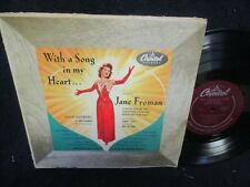 """Jane Froman """"With a Song In My Heart"""" 10"""" LP"""