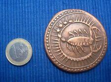 V36 Rare Medaille Numérotée Signe Zodiaque Monnaie Moghole Scorpion Paris